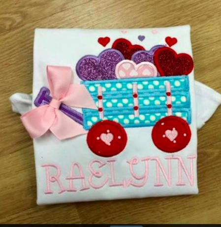 Heart Wagon Applique Shirt