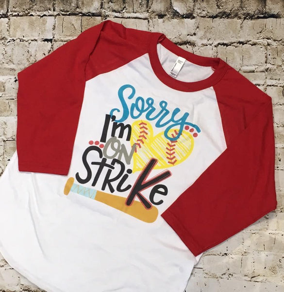 I'M On Strike Vintage Raglan