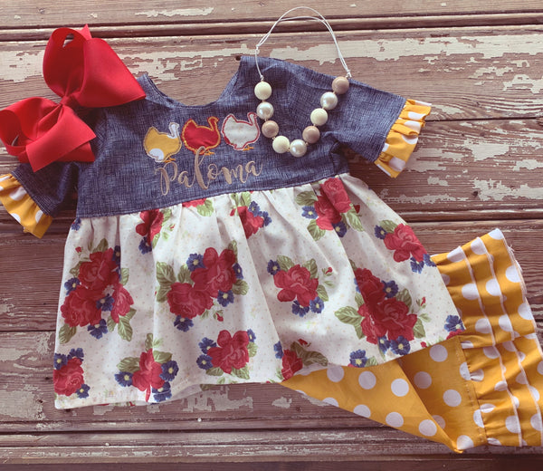 Asher Dress and Pinafore Set
