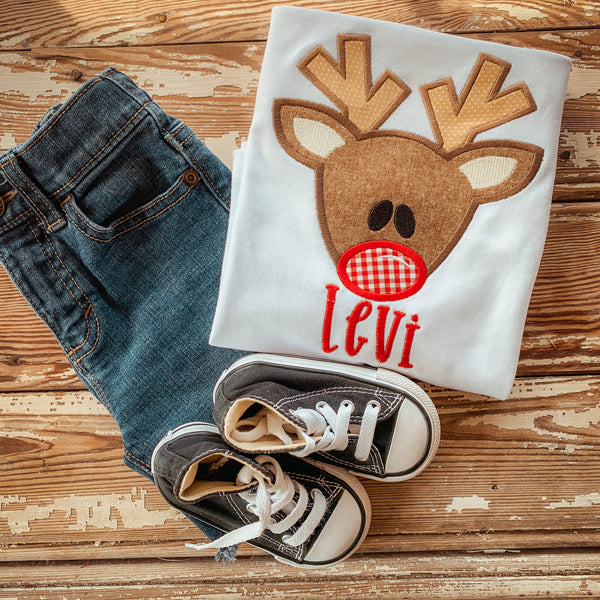Boy Christmas  Reindeer  Shirt