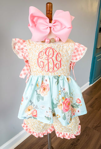 Rosalie Dress and Pinafore Set