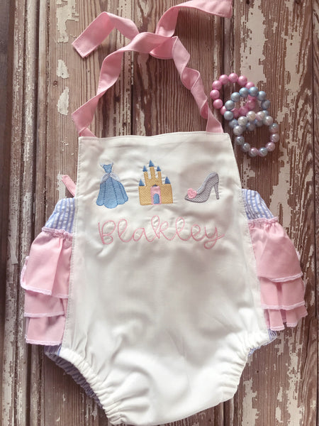 Princess bubble romper