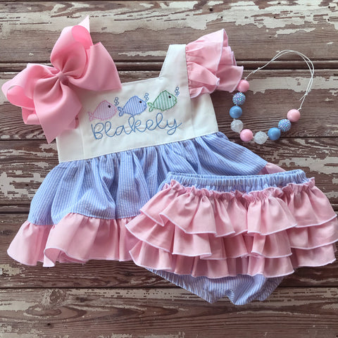 Blakely Dress and Pinafore Set