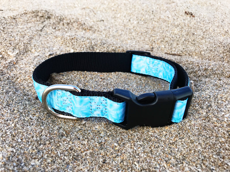 Tropical Blue Palm Collar