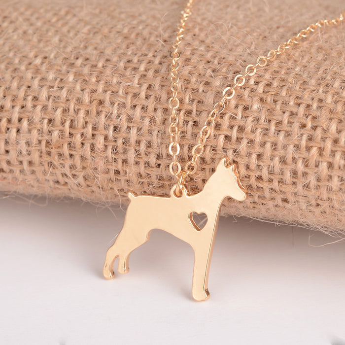Doberman Pinscher Dog Necklace