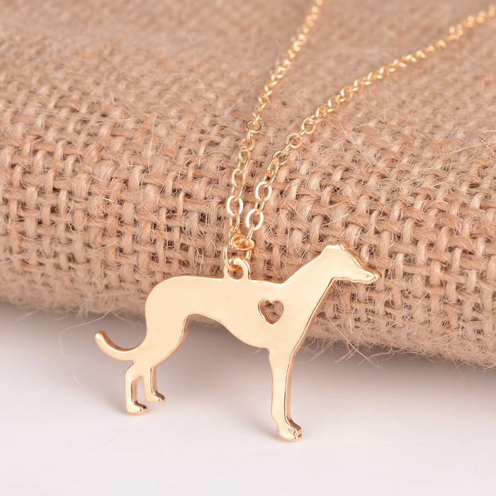 Gold Greyhound Necklace