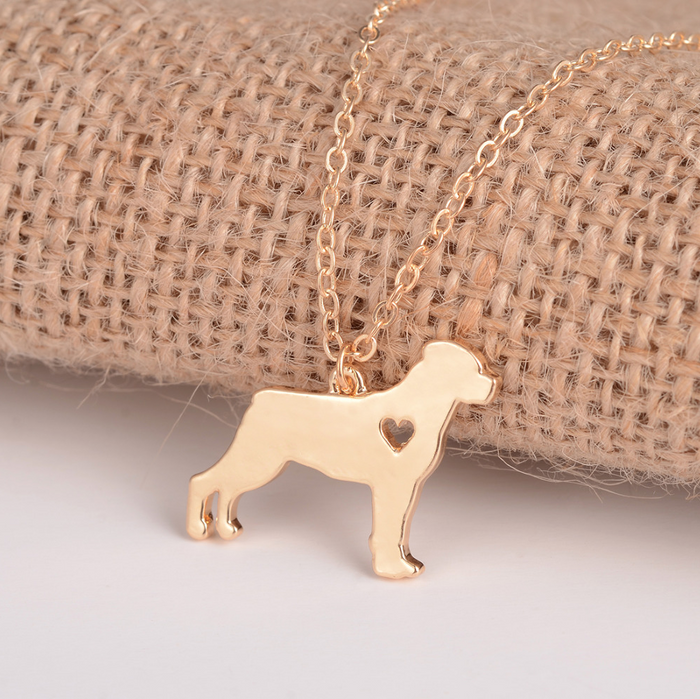 Gold Rottweiler Necklace