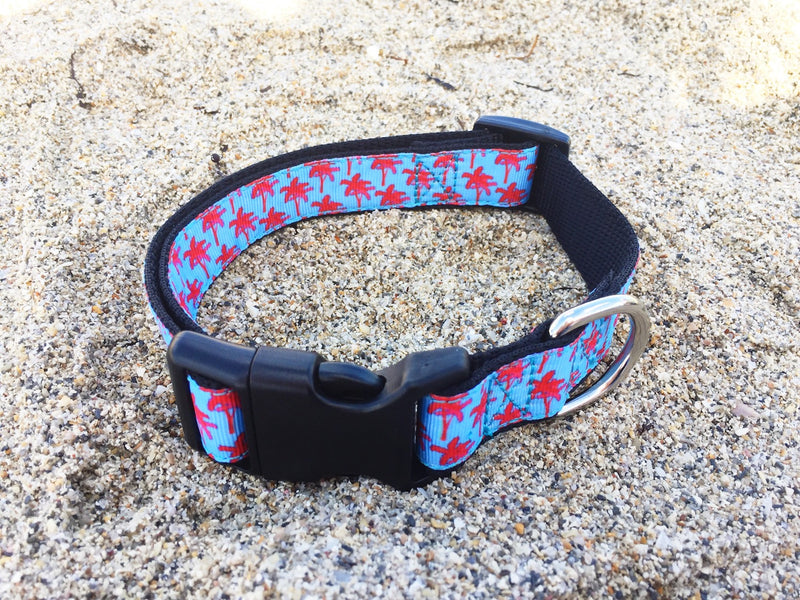 Collars4Change Palm Tree Dog Collar