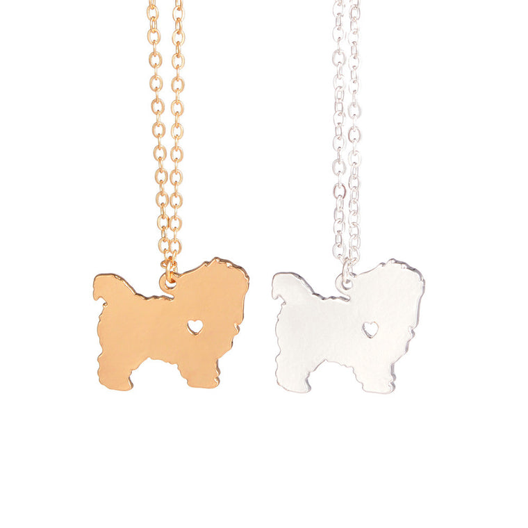 Maltese Dog Necklace