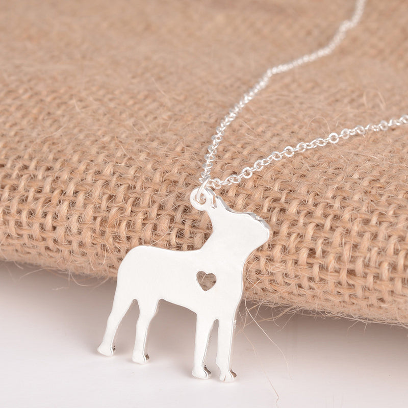 Boston Terrier Dog Necklace