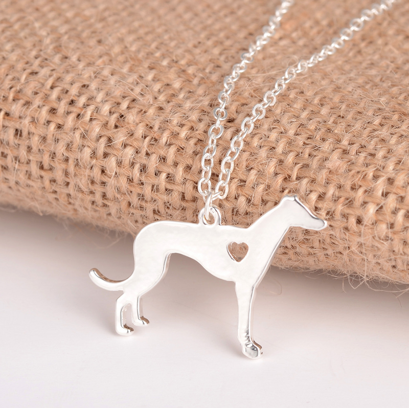Silver Greyhound Necklace