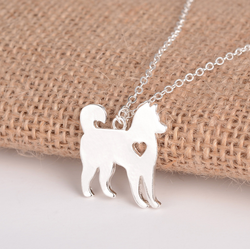 Siberian Husky Dog Necklace