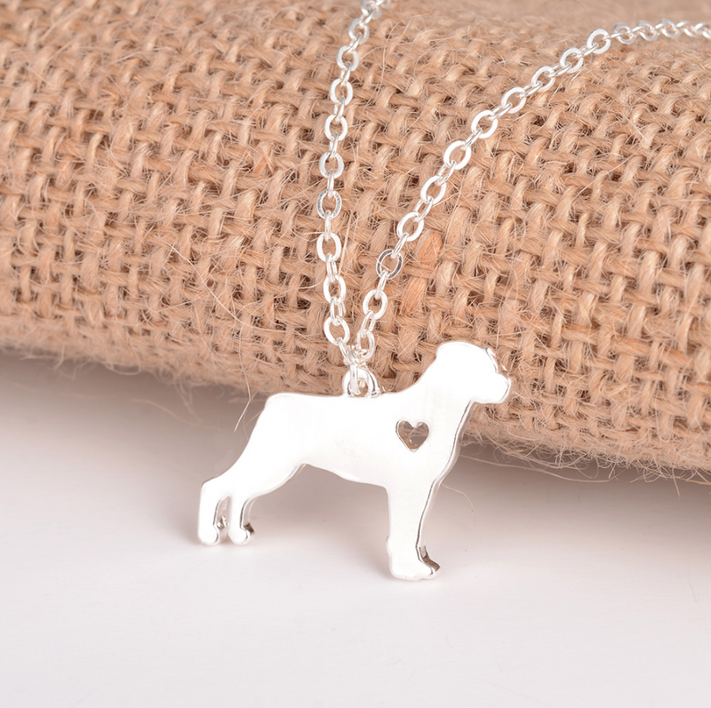 Silver Rottweiler Necklace