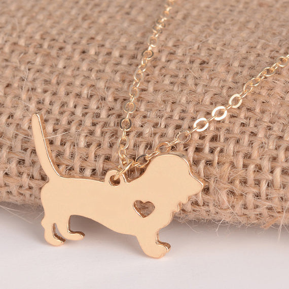 Basset Hound Dog Necklace