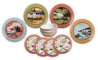 Camp Casual Vintage Trailer plate set
