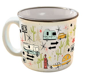 Camp Casual Mug - Wanderlust White