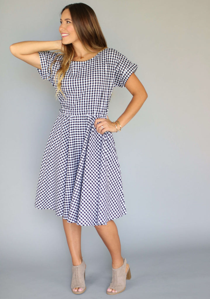 Check Her Out Gingham Dress, dresses and skirts, Miel Boutique   - Miel Boutique
