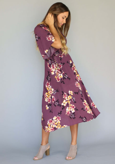 Orchid Woven Wrap Dress, dresses and skirts, Miel Boutique   - Miel Boutique
