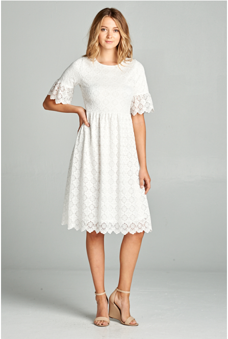 Geo Lace Dress, dresses and skirts, Miel Boutique   - Miel Boutique