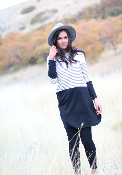 Blackout Block Tunic Dress
