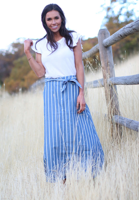 French Farmhouse Maxi Skirt