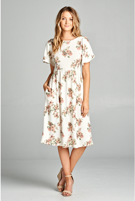 Piper Floral Dress, dresses and skirts, Miel Boutique   - Miel Boutique