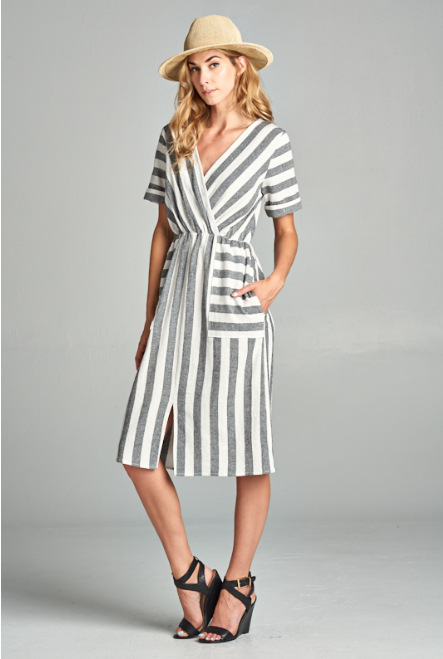 Delia Striped Dress
