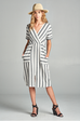 Striped dress, Midi dress