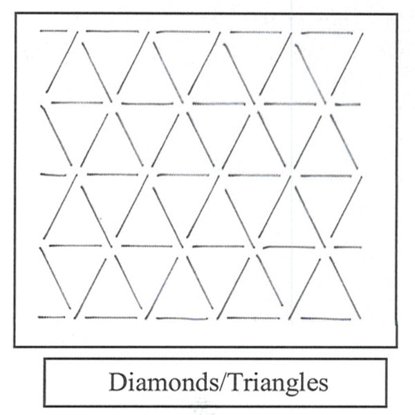 "Ultimate Backgrounds ""Ala Carte""~Triangles/Diamonds"