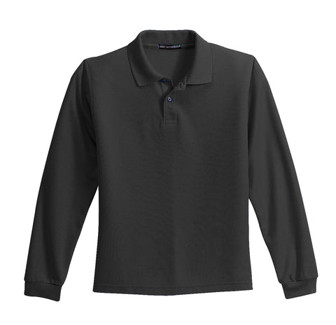 Port Authority® Youth Long Sleeve Silk Touch™ Polo