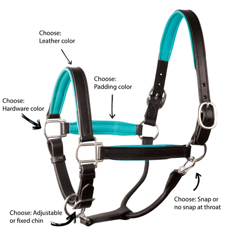 Design your own Custom Padded Leather Halter