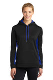 Sport-Tek® Ladies Sport-Wick® Fleece lined Colorblock Hooded Pullover