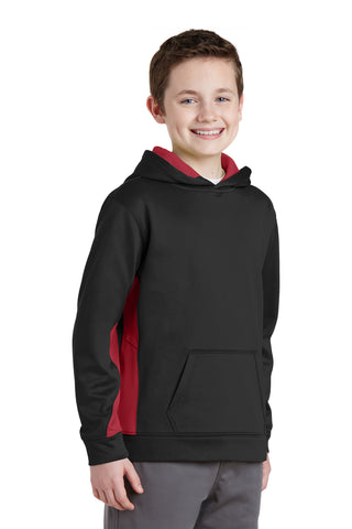 Sport-Tek® Youth Sport-Wick® Fleece lined Colorblock Hooded Pullover