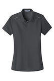 Port Authority® Ladies Pinpoint Mesh Zip Polo