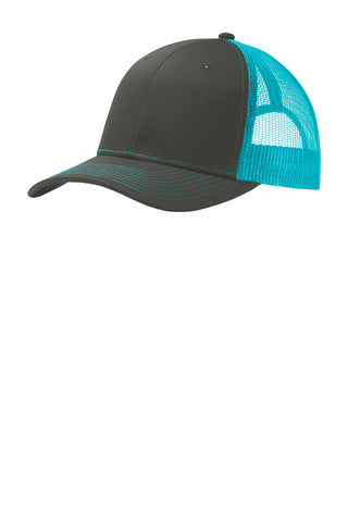 Port Authority ® Mid-Profile Snapback Trucker Cap Brand Logo