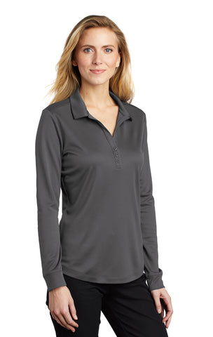 Port Authority ® Ladies Silk Touch™ Performance Long Sleeve Polo Brand Logo