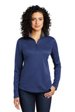 Port Authority ® Ladies Silk Touch ™ Performance 1/4-Zip Contrasting Collar