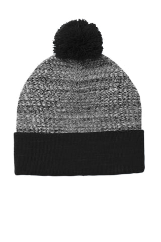 Sport Tek Heather Pom Pom Beanie