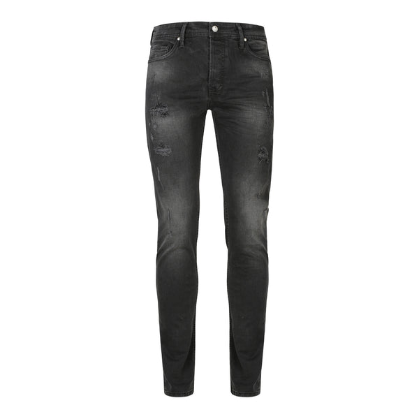 Distressed black - regular slim fit