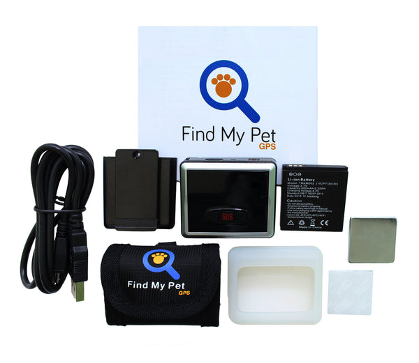 New Version 2.0 Find My Pet GPS Worldwide GPS Dog Tracker - Smart Collar For Dogs - Real Time Tracking - Android & iPhone Apps