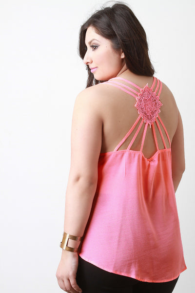 Crochet Patch Cage Back Top