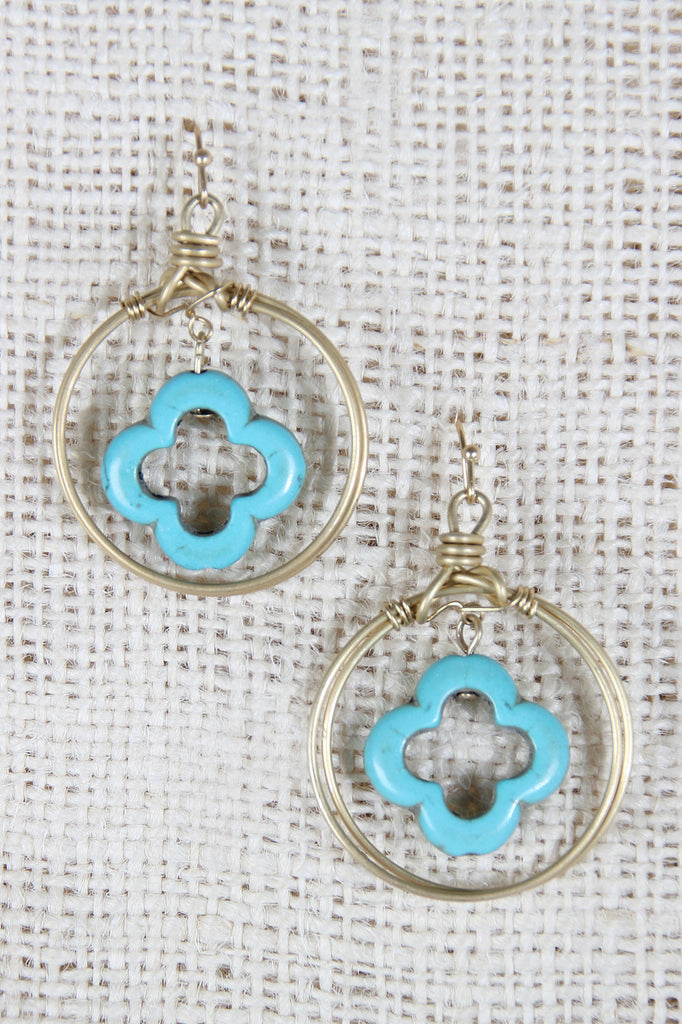 Wire Wrapped Circle Dangle Earrings