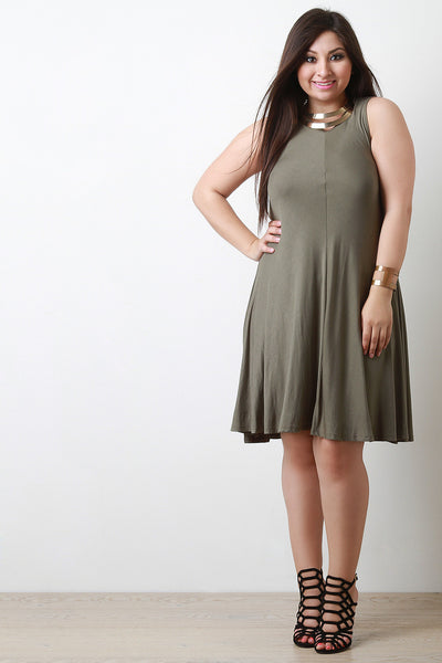 Sleeveless Knit Shift Dress