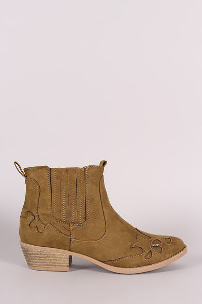 Qupid Western Stitched Ankle Boots