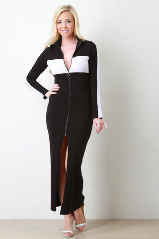 Sporty Tracksuit Maxi Dress