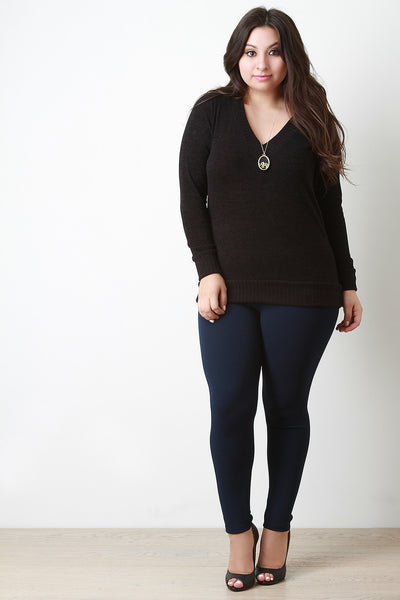 Slim Fit V Neck Light Sweater