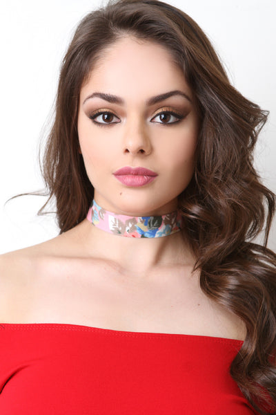 Lovely Floral Choker Necklace