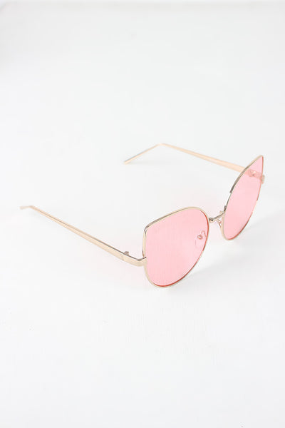 Wire Framed Cat Eye Sunglasses