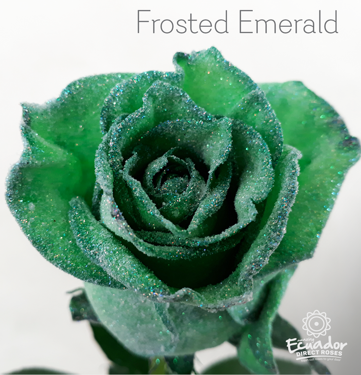 FROSTED EMERALD - Glitter Rose