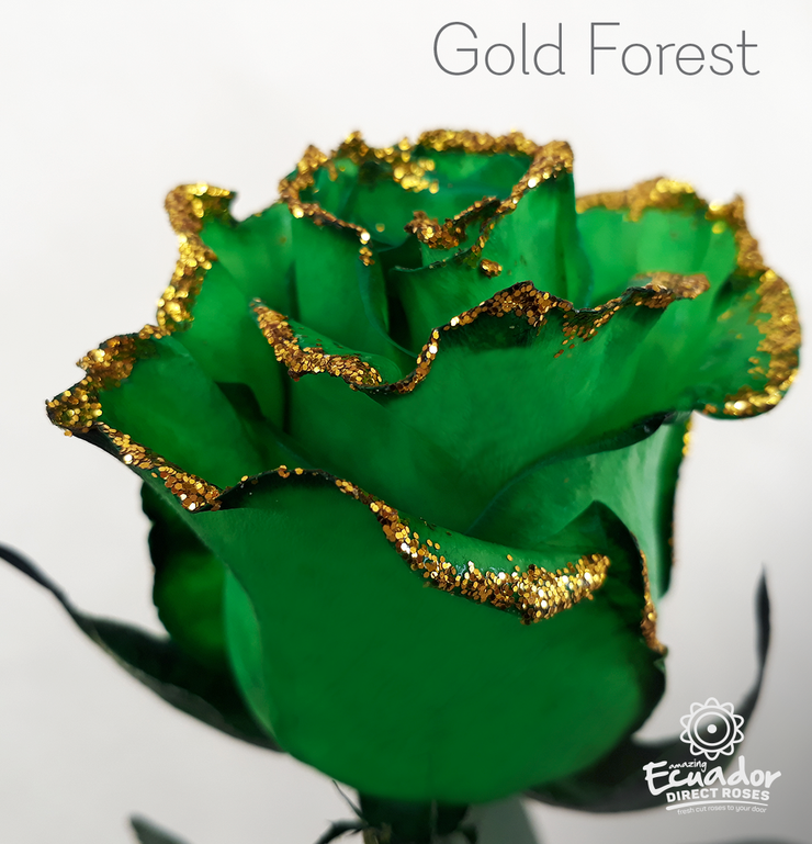 GOLD FOREST - Tinted and Glitter Rose